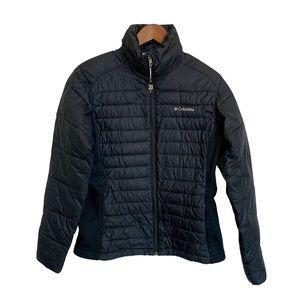 COLUMBIA Women's Black Puffer Jacket Size Med